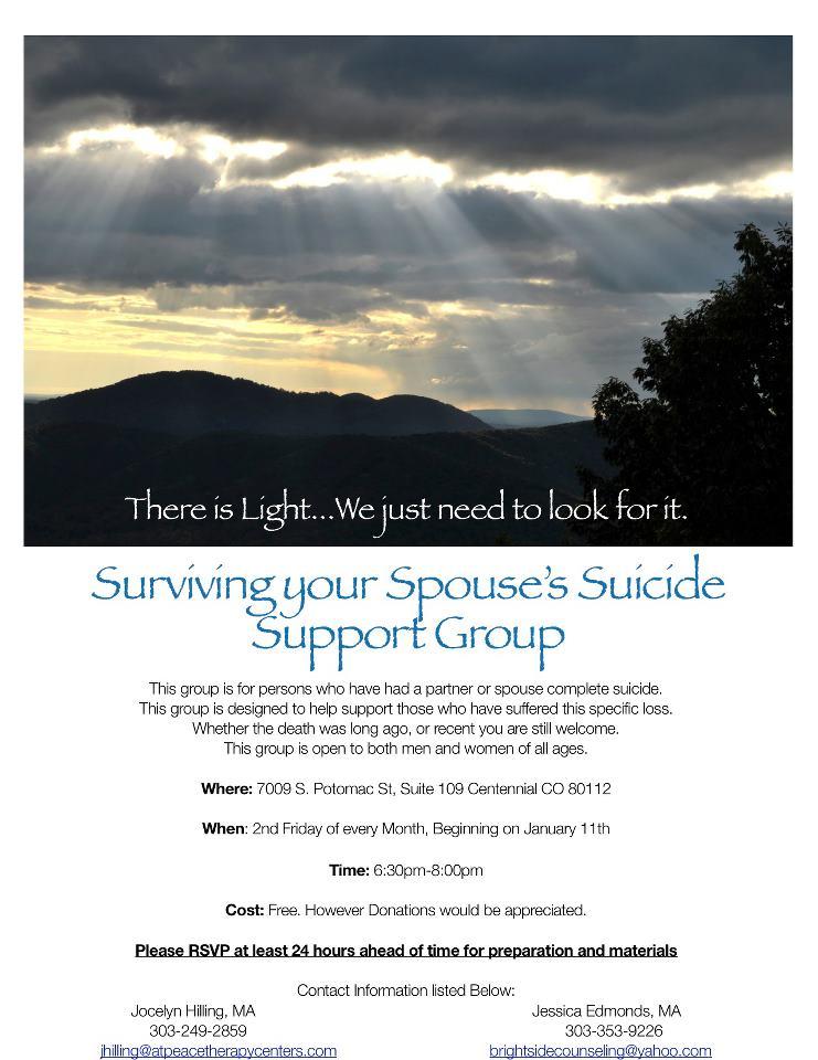 Surviving your spouses suicide